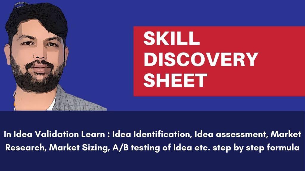 Skill Discovery Sheet